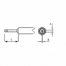 NT K Chisel tip, Width 1,2 mm, Thickness 0,4 mm, Length 8,4 mm Weller