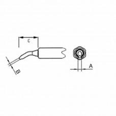 NT 1X Soldering Tip Round, bent 45°, Ø 0, 4 mm Lenght 8, 6 mm Weller